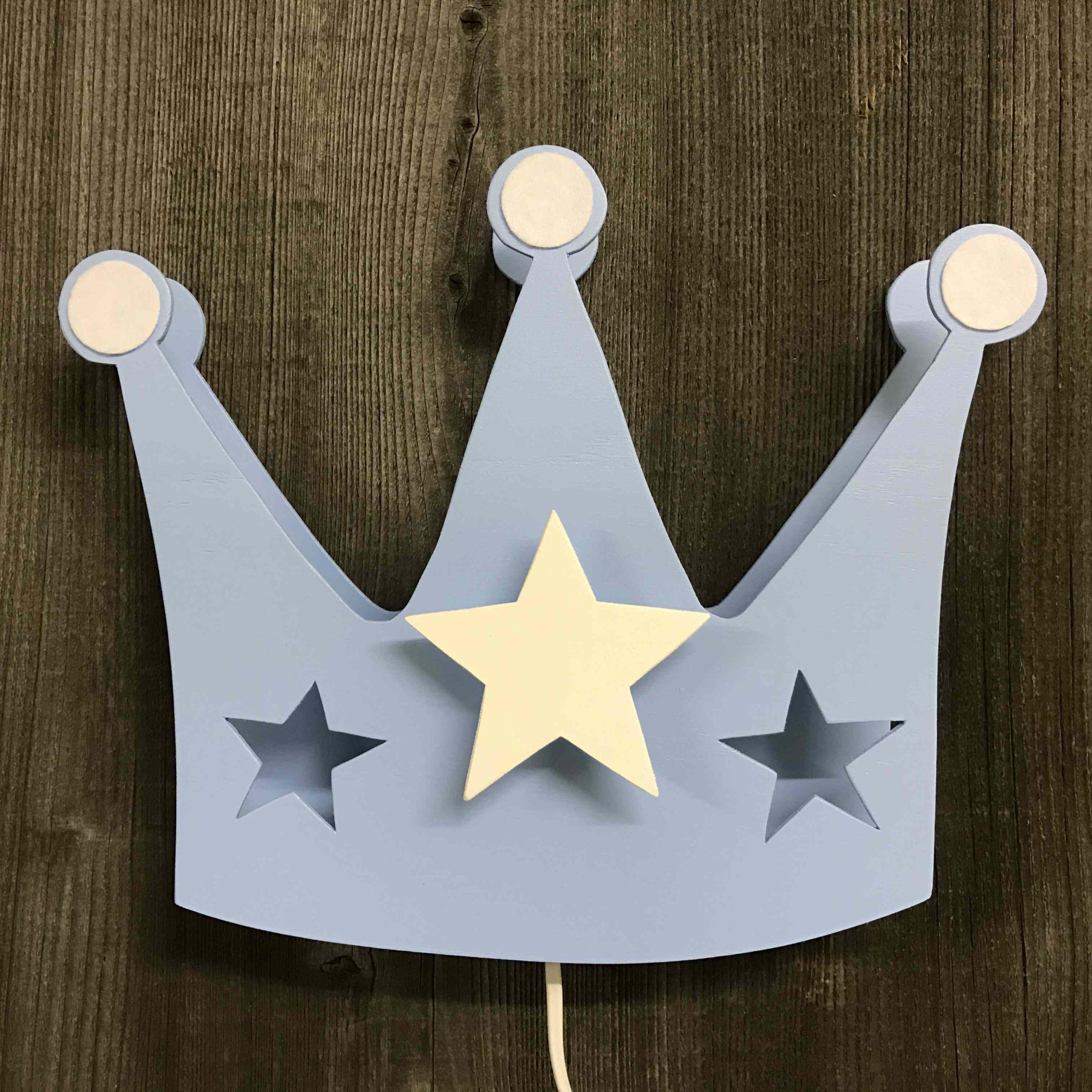 Krone hellblau