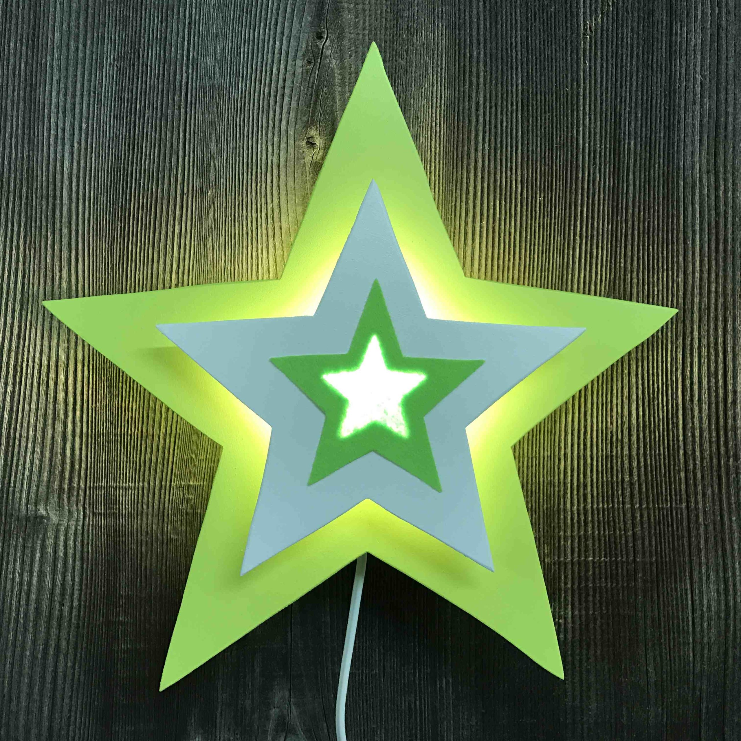 Stern hellgrün